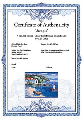 Gicle printing services in harrogate ripon skipton leeds certificate of authenticity yadclub Images